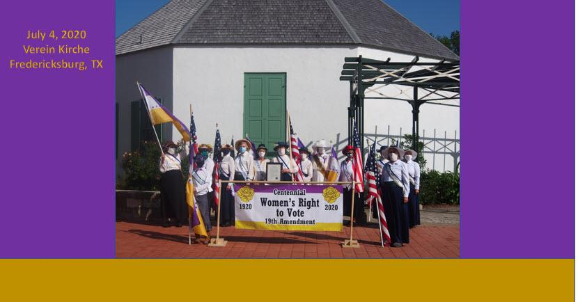 July 4th Centennial Women's Right to Voter Fredericksburg
