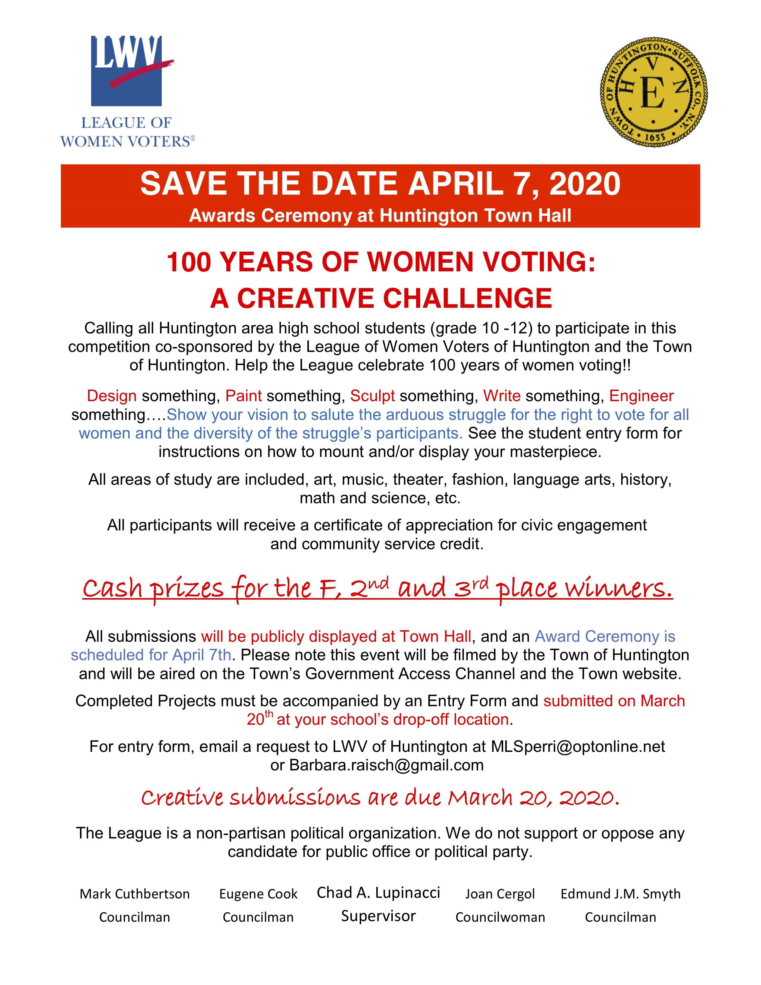 Save The Dates April 7 2020