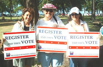 Voter registration at Ala Moana Park