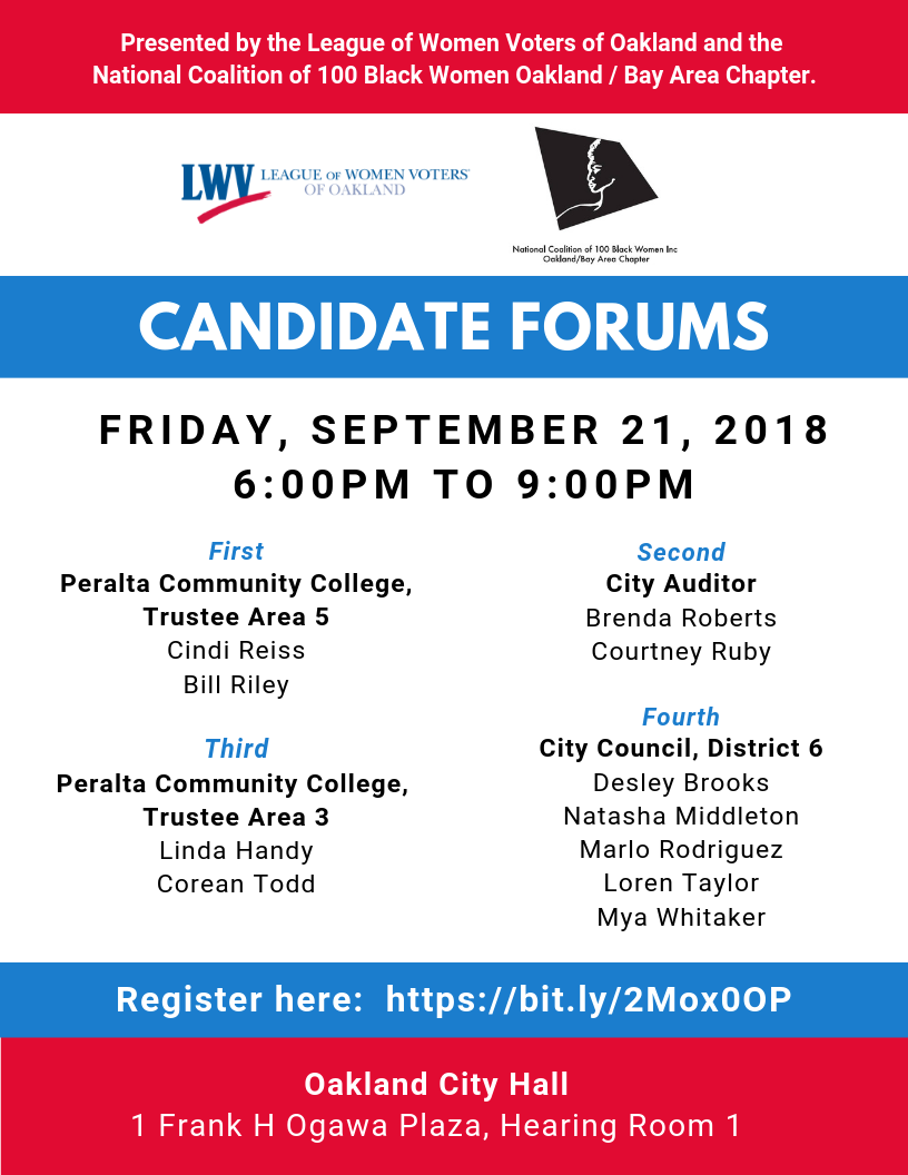 Flier for 9/21 Candidate Forum
