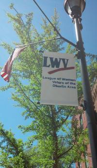 Flag representing LWV Oberlin