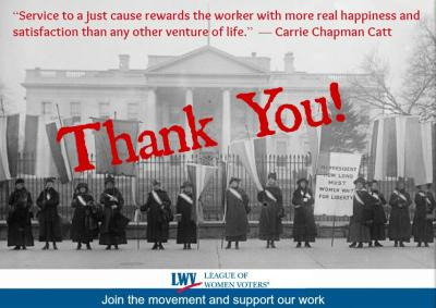 Thank You! from LWV