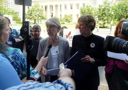 LWVO redistricting specialist Ann Henkener answers media questions