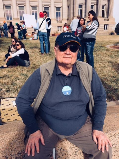 Don Bruestle at Womens March 2018