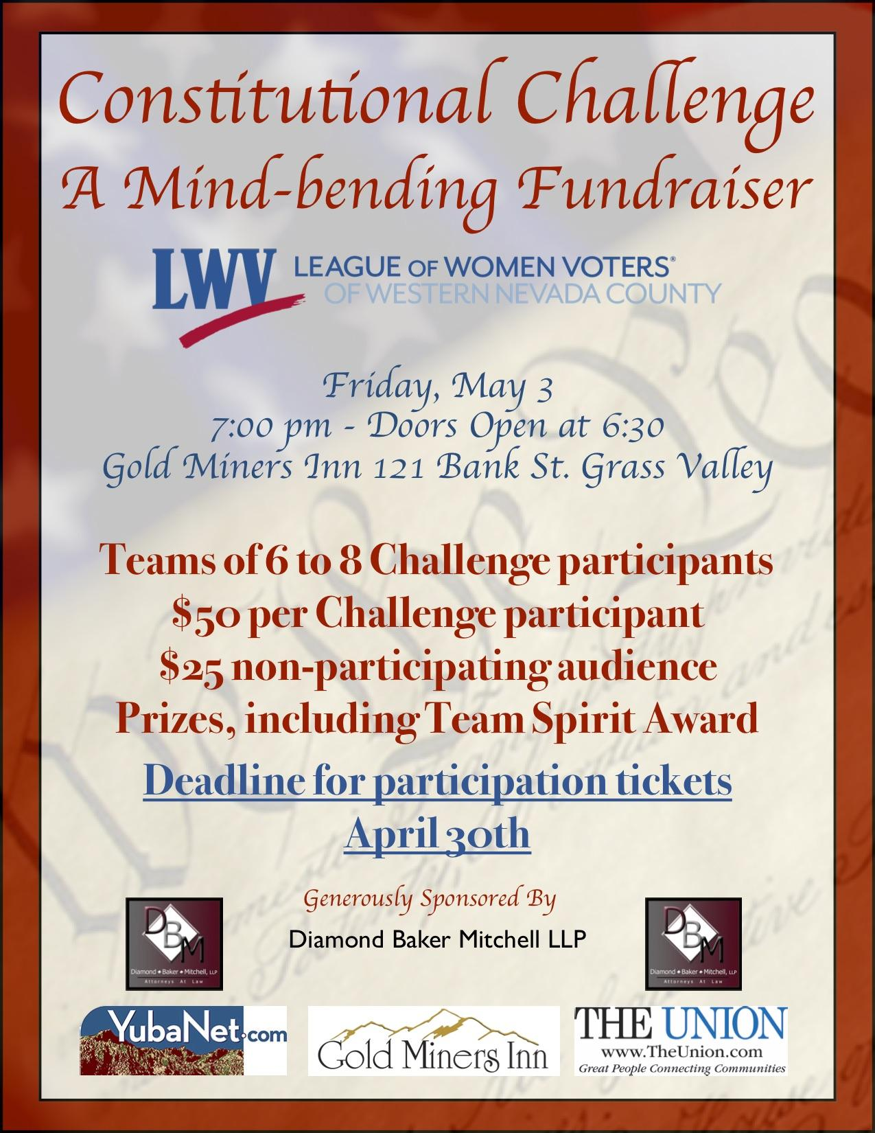 Constitutional Challenge Fundraiser