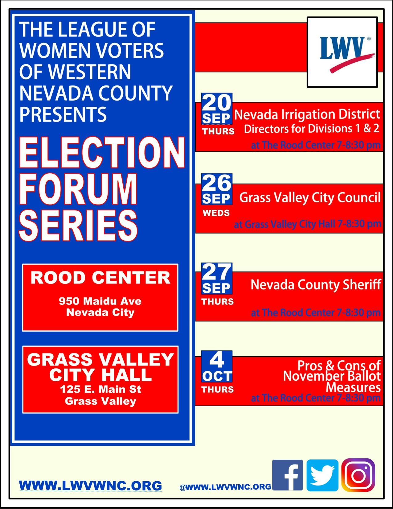 Election Forum Series Poster
