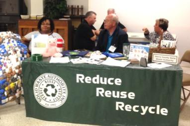 Horry County Solid Waste Authority table at Plastic Bag Forum, 2016