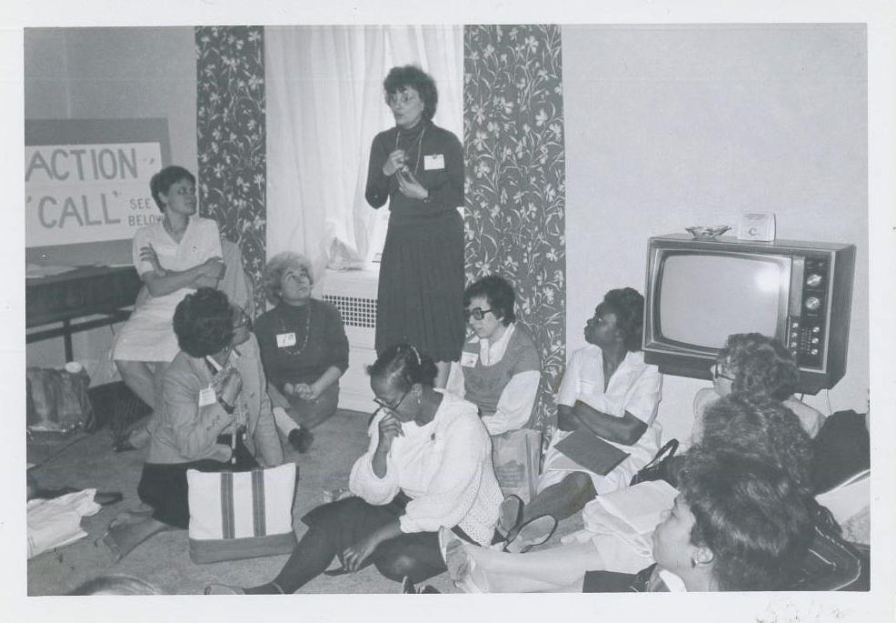 1960s Timeline Photo - meeting to support equal access to education, racial integration of schools, fair employment and fair housing