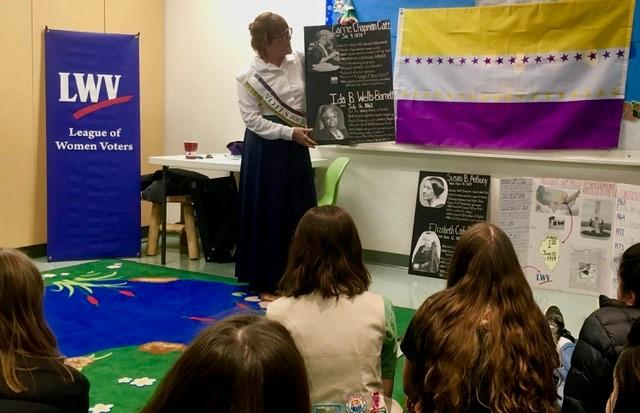 Girl Scouts Learn About 19th Amendment