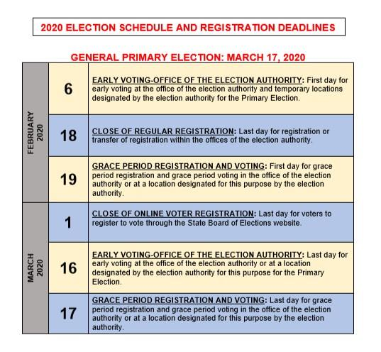 2020 Election Schedule