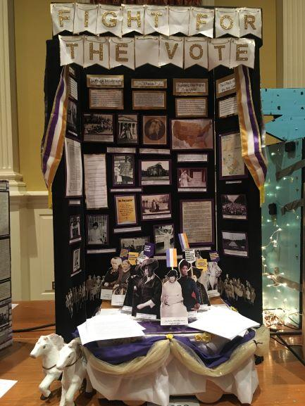 Hawai'i HIstory Day exhibit on Women's Suffrage