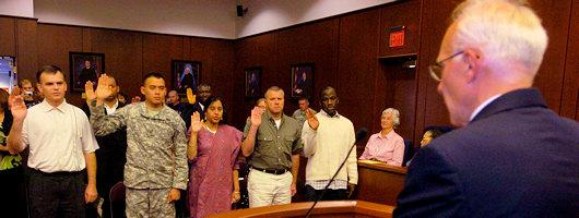 New Citizens Ceremony 2 - LWVSMA 2008