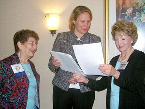 2009 NY State League Convention: Members w/ Mahoney