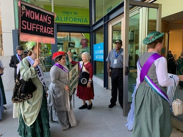 Actors in costume at 19th Amendment Centennial in Sacramento