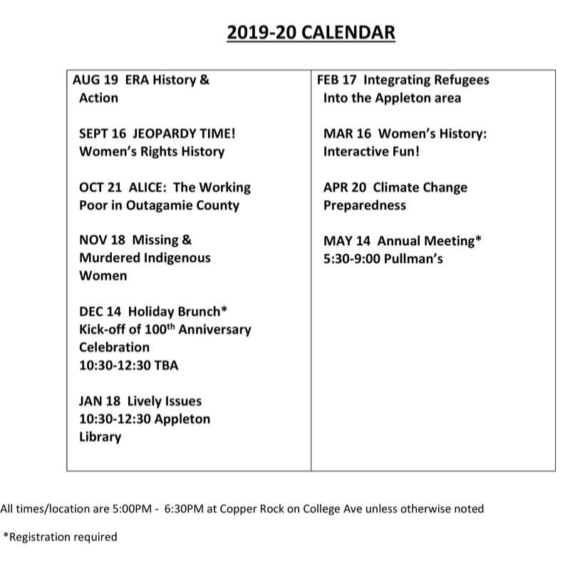 2019-2020 Programs