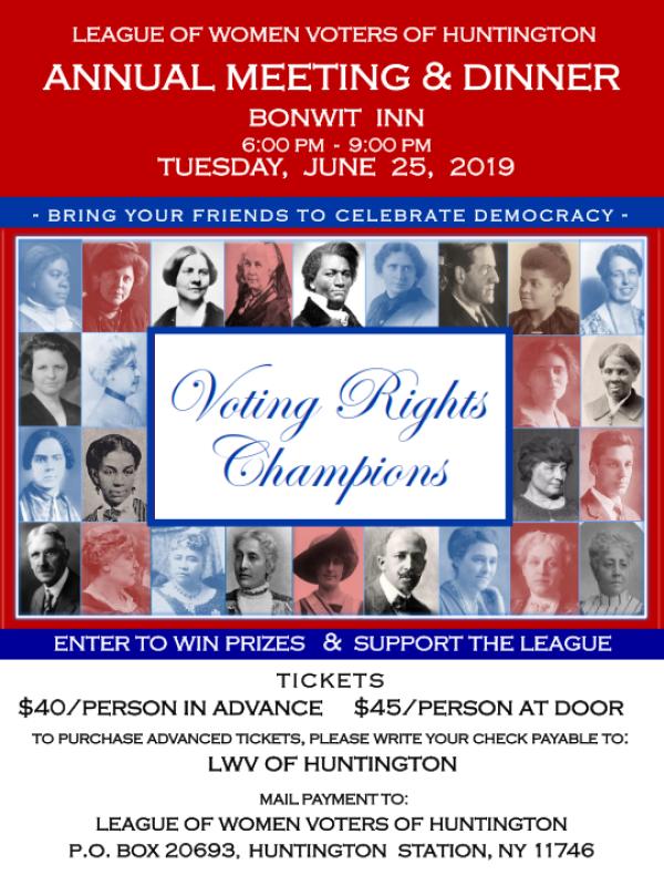 2019 Annual Meeting Flyer - June 25, 2019