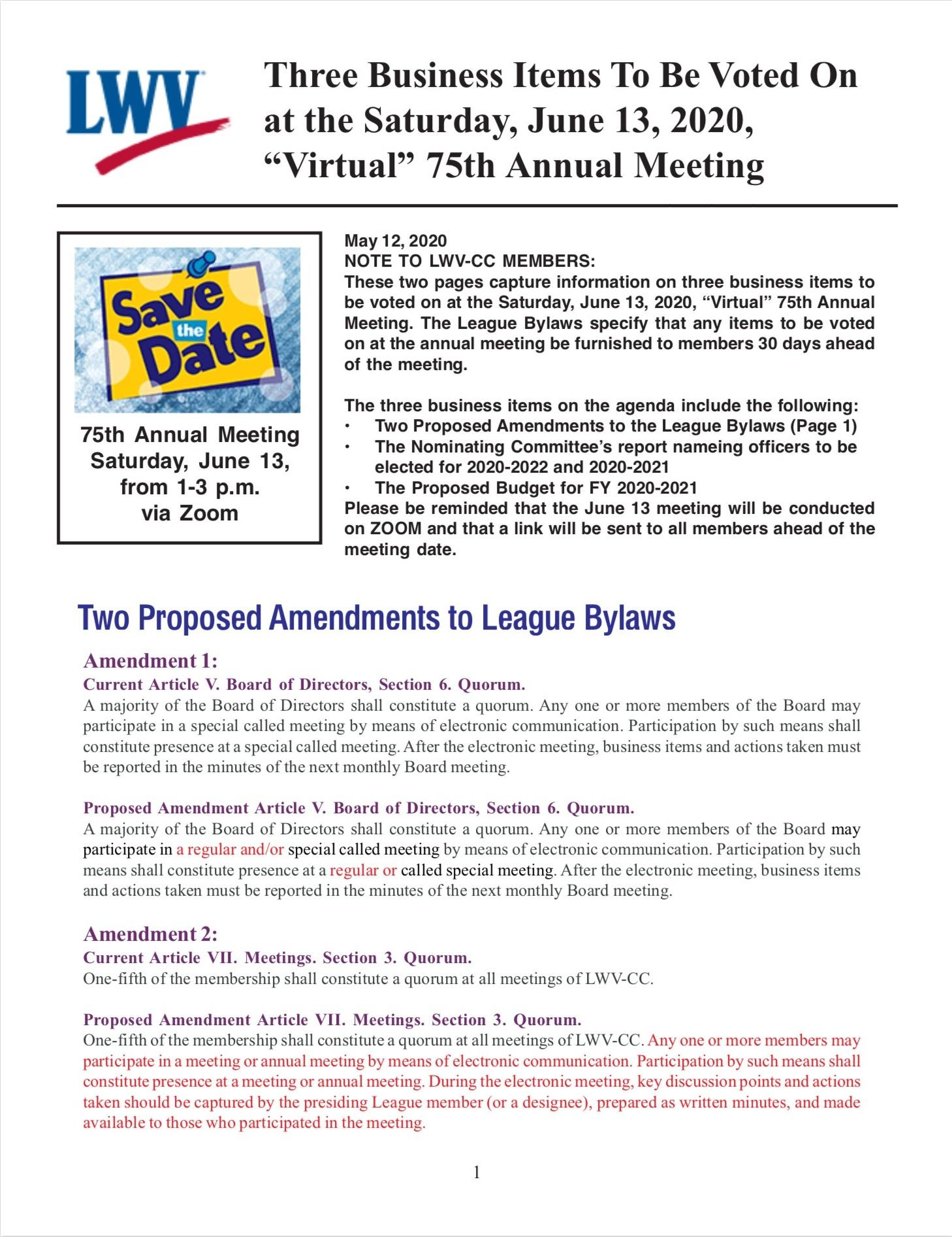 Annual Meeting Info page 1