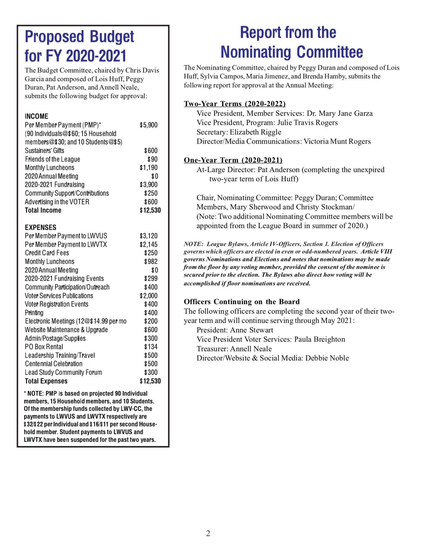 Annual Meeting Info page 2