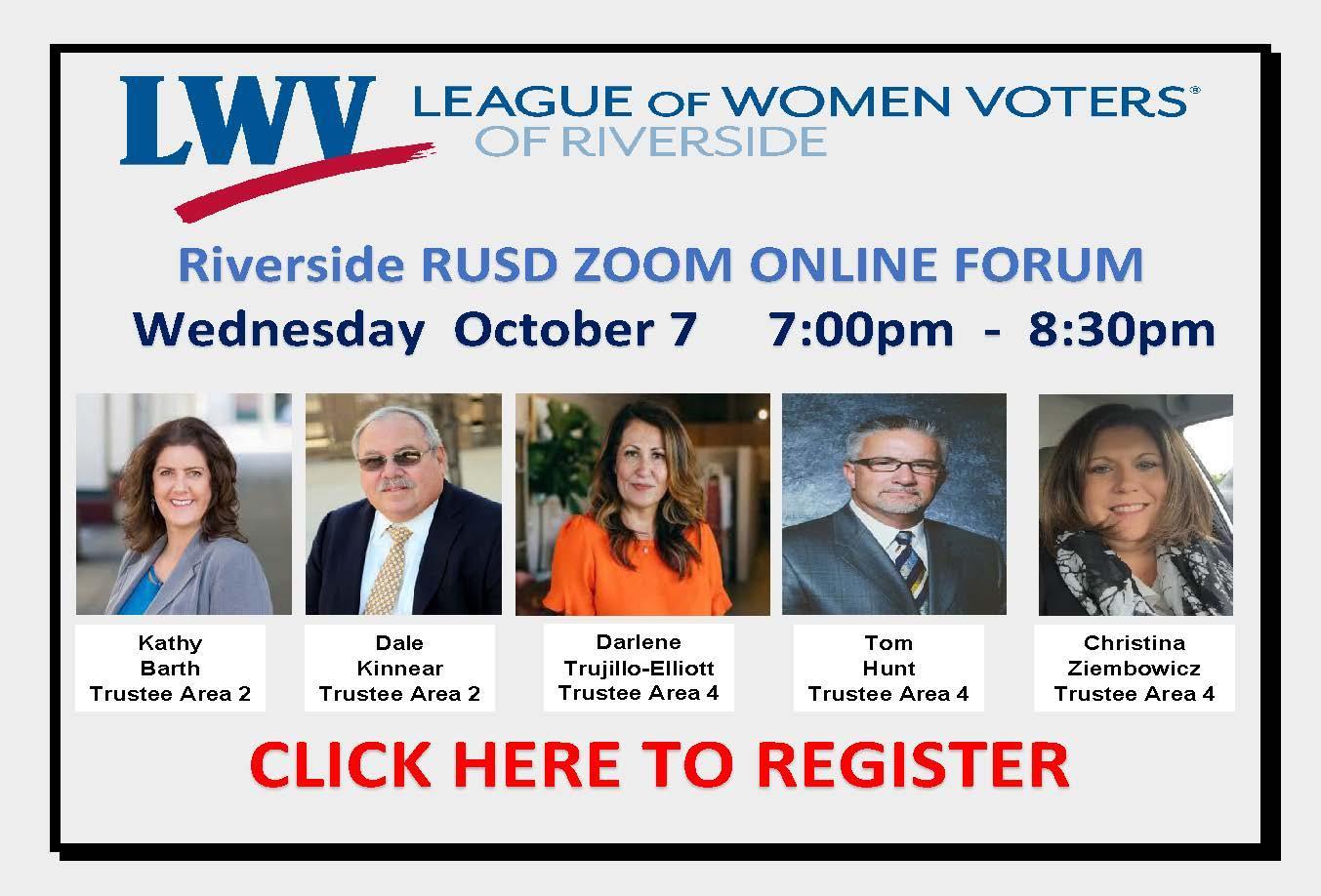 2020 LWV Riverside Forum Registration