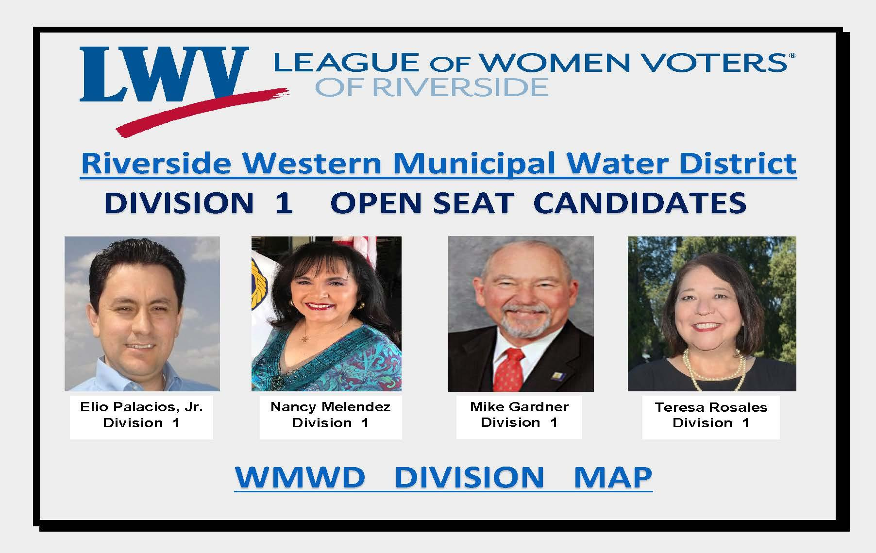 2020 WMWD Division 1 Open Seat Candidates