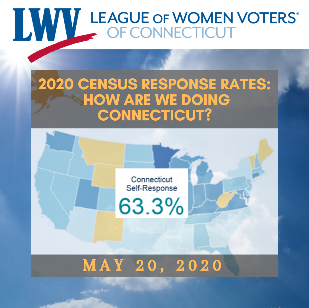 CT Census Response Rates as of May 20 2020- How are we doing Connecticut?