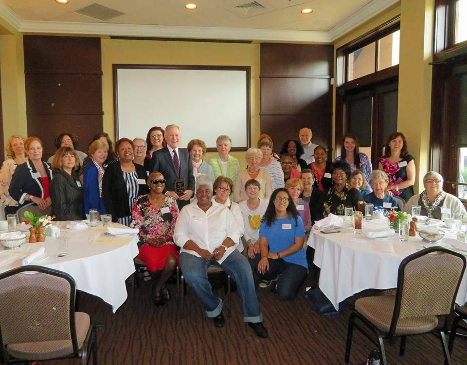 LWVMS members at dinner event