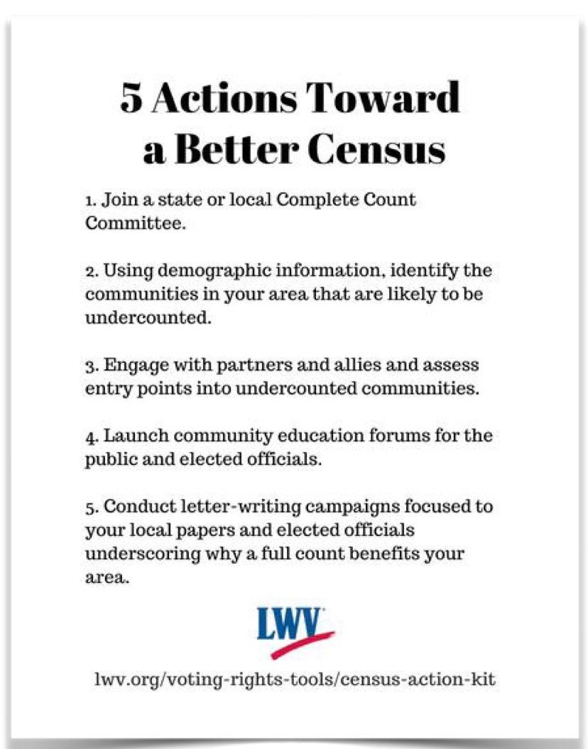 5 Actions for better Census