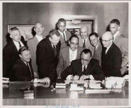 Signing of Fair Employment Practices Act, 1959