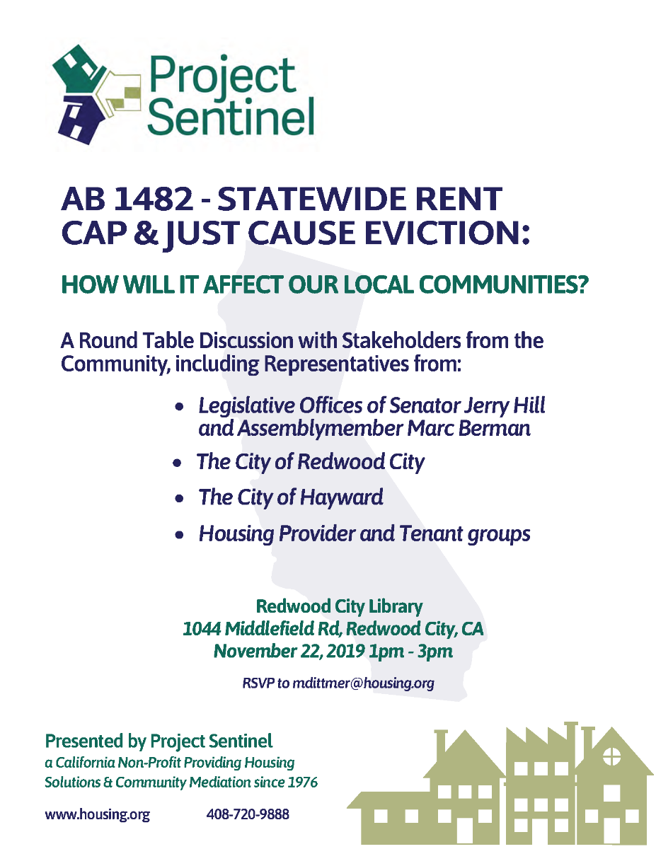 AB 1482 Statewide Rent Cap & Just Cause Eviction Discussion