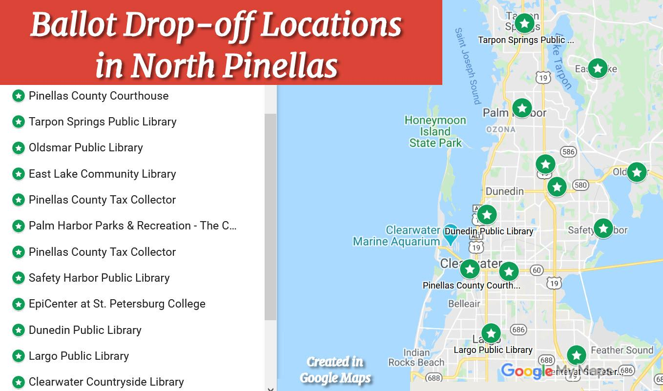 Ballot Drop-off locations North Pinellas County since COVID19