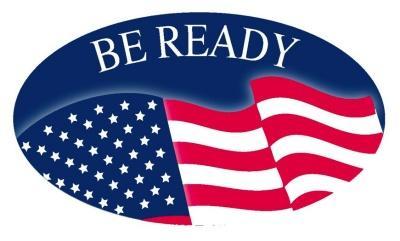 """Be Ready"" USA Flag"
