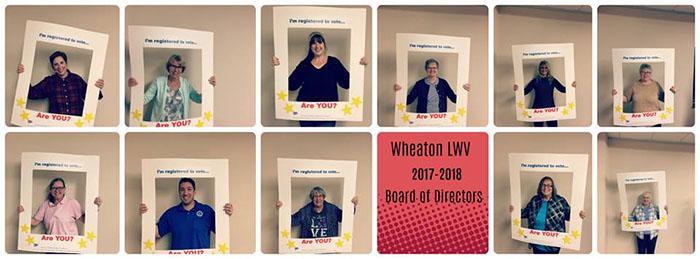 2017-2018 LWV Wheaton Board Members