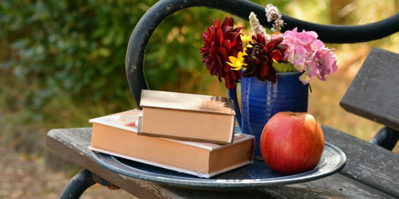 Book In Garden