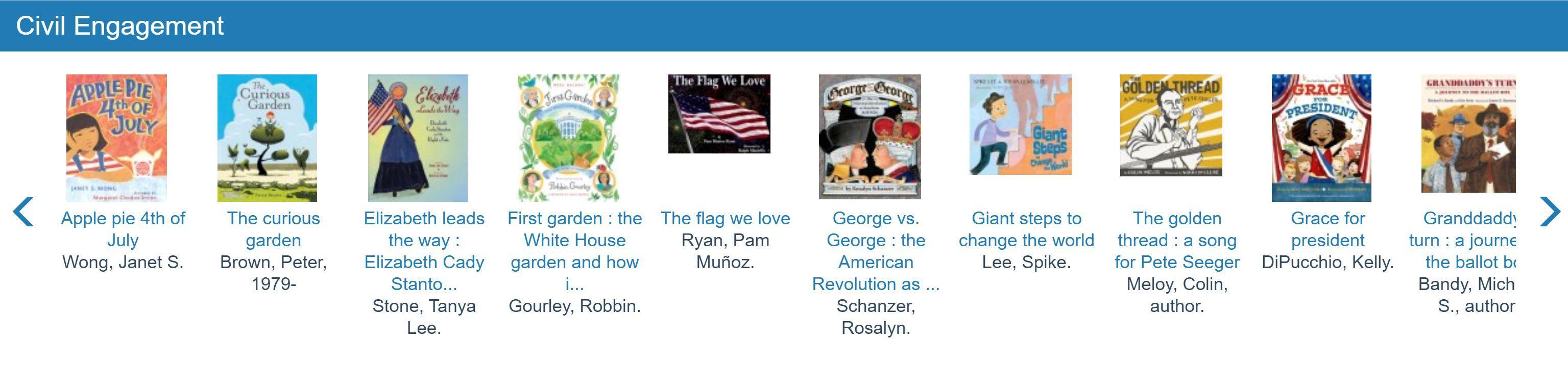 screen shot of civics books