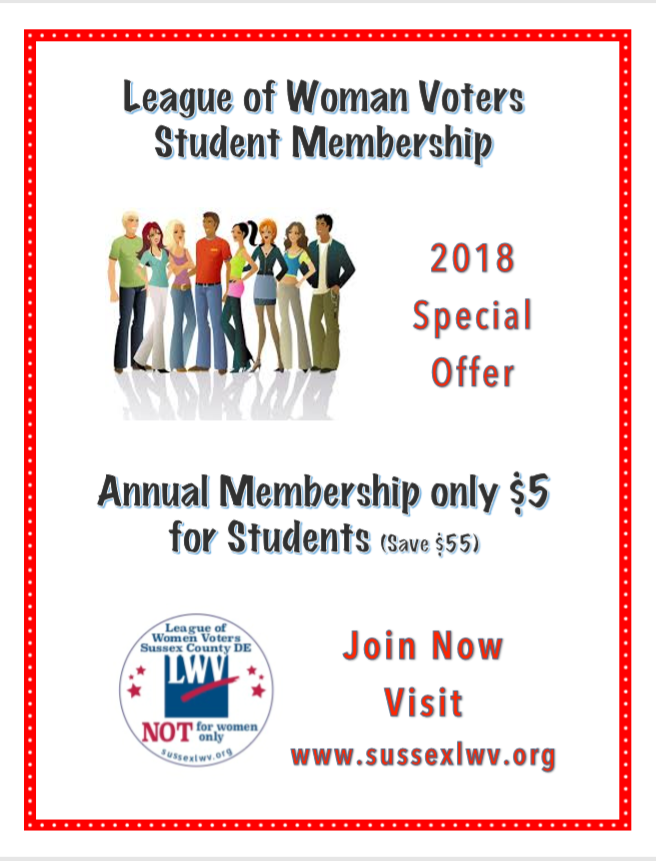 Flyer for Student Membership for only $5