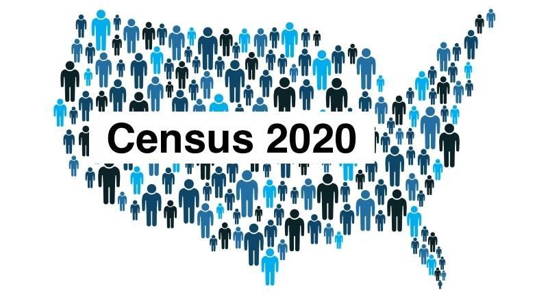US Map with Census 2020 Label - No Data