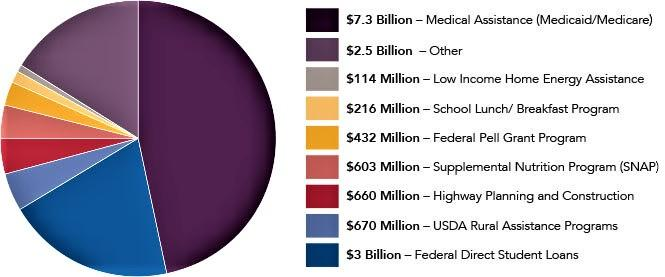 Pie Chart of Census Based Federal Funding to Minnesota