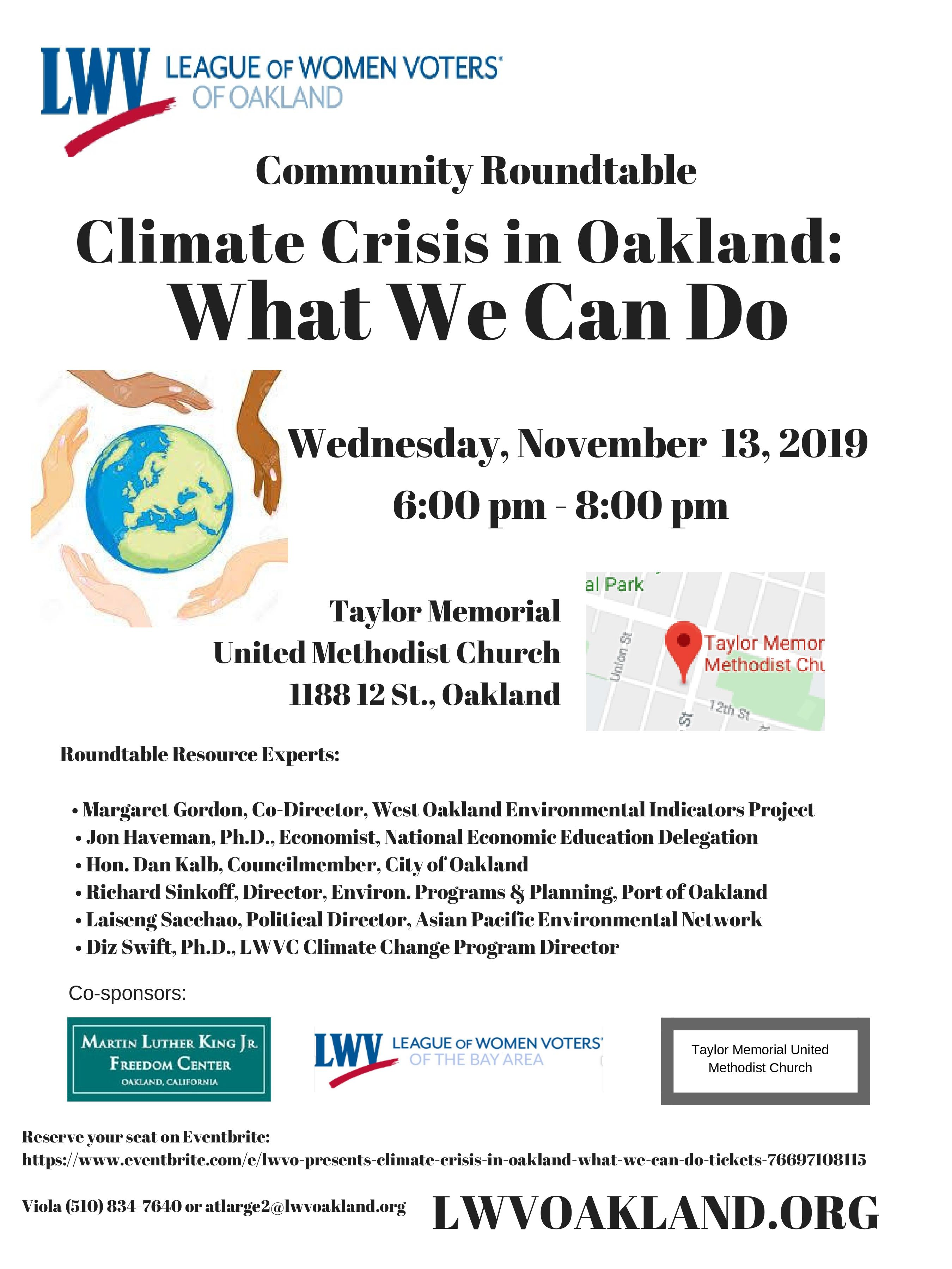 Climate Roundtable Flyer