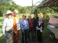 Committee members at Quail Hill Farm in Amagansett in October 2014