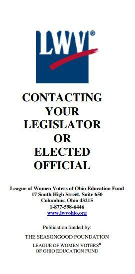 contacting your elected official flyer cover
