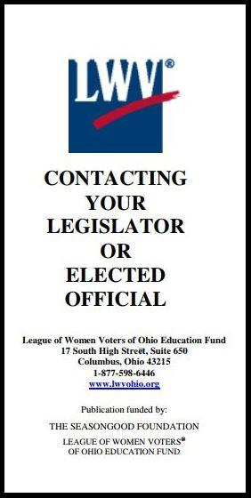contacting your elected official flyer cover -outlined