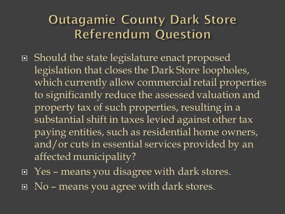 Dark Stores