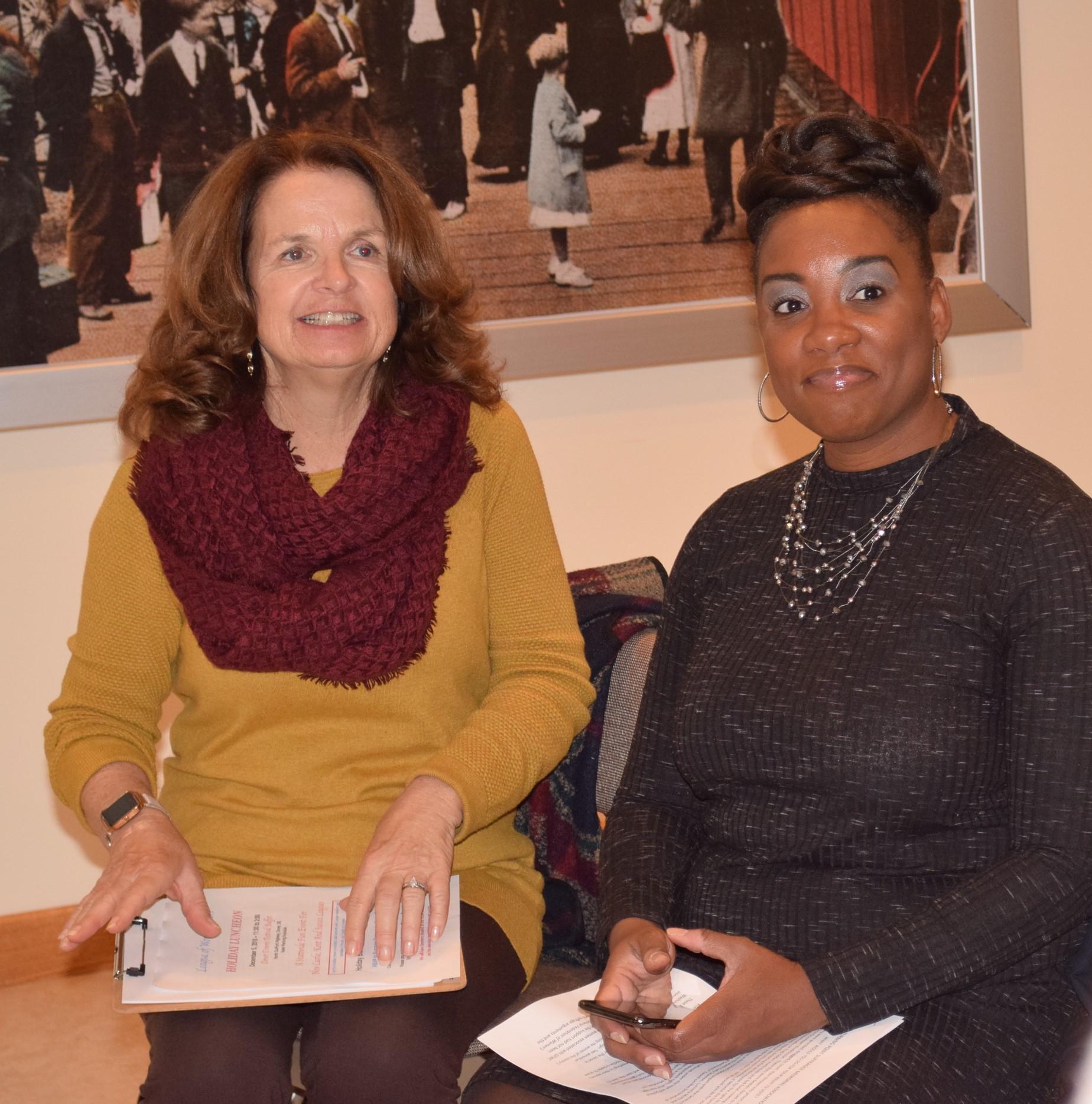 LWVSC President Martha Redmond with speaker Stacey Burton