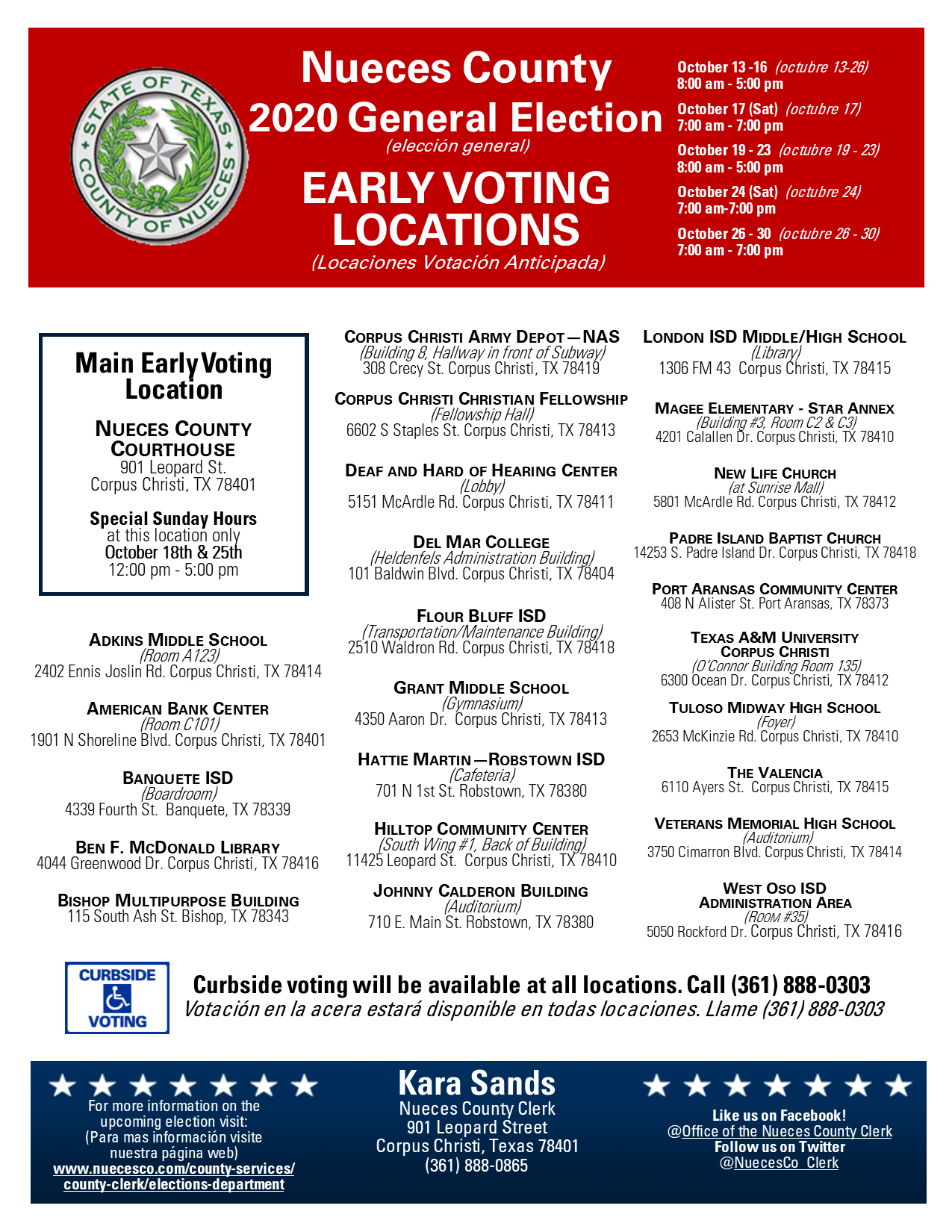 early voting locations nueces county