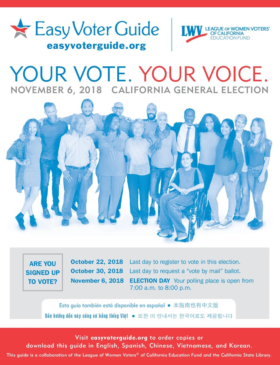 Cover photo of Easy Voter Guide