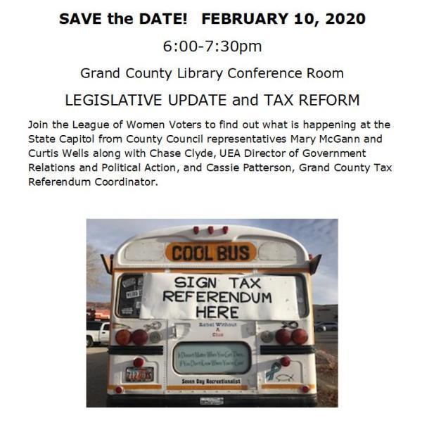 Legislative Update and Tax Reform Event Program Flyer