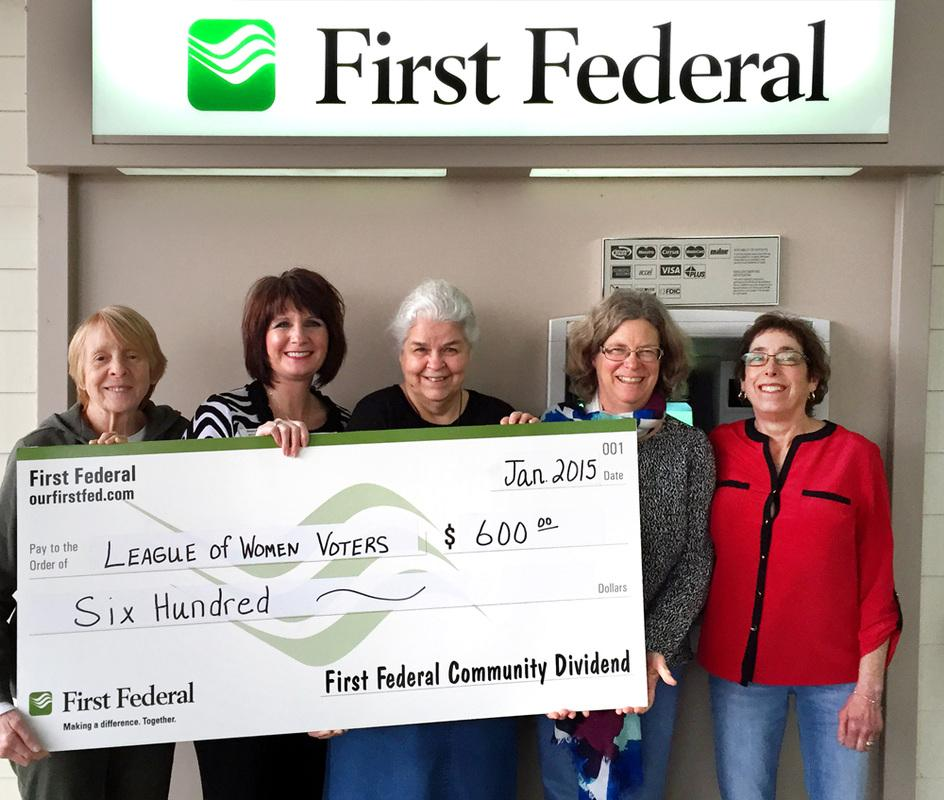 First Federal Donation Photo 2015