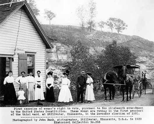 First Women Voting,  Stillwater MN, 1920
