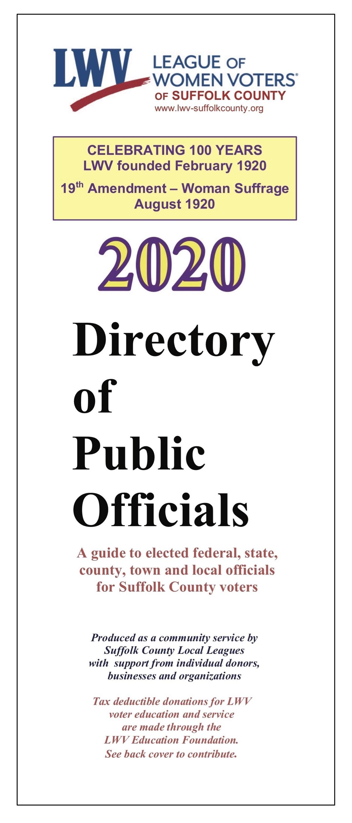 Directory of Public Officials