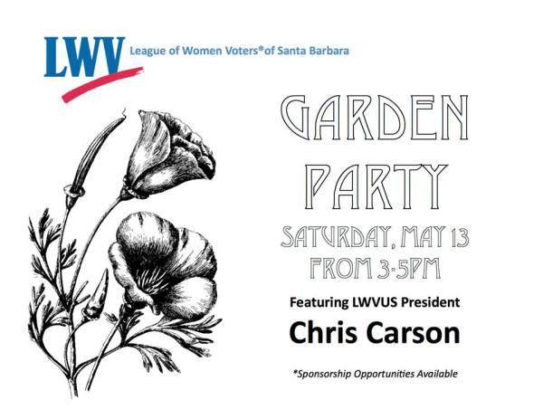 Garden Party w/ LWVUS President Chris Carson